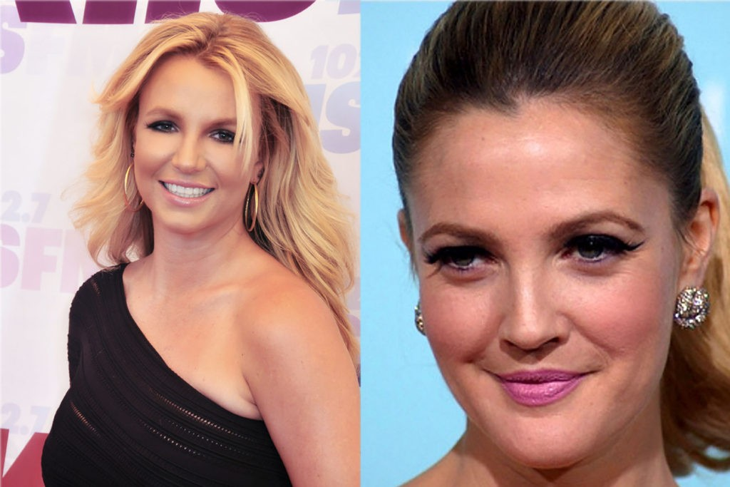 Britney Spears and Drew Barrymore